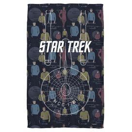 Star Trek Enterprise Crew Face Hand Towel