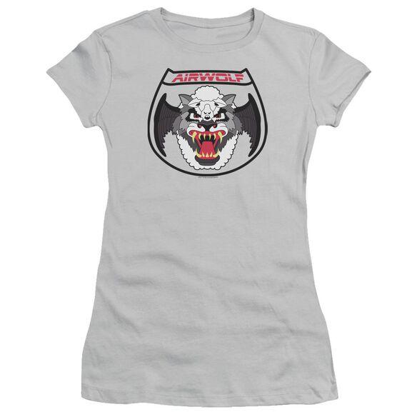 Airwolf Patch Short Sleeve Junior Sheer T-Shirt