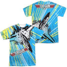 Top Gun Rad Jet (Front Back Print) Short Sleeve Adult Poly Crew T-Shirt
