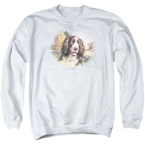 Wildlife Springer Spaniel Head Adult Crewneck Sweatshirt