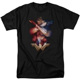 Wonder Woman Movie Arms Crossed Short Sleeve Adult T-Shirt