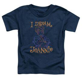 I Dream Of Jeannie Jeannie Paint Short Sleeve Toddler Tee Navy T-Shirt