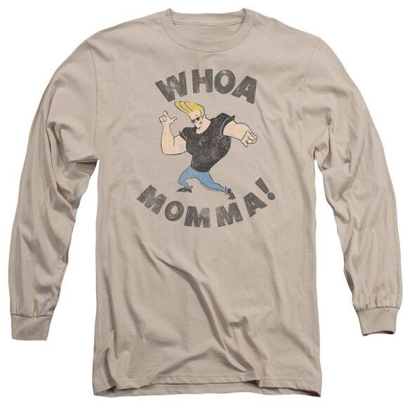 Johnny Bravo Whoa Momma Long Sleeve Adult T-Shirt
