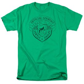 Beetle Bailey Official Badge Short Sleeve Adult Kelly Green T-Shirt