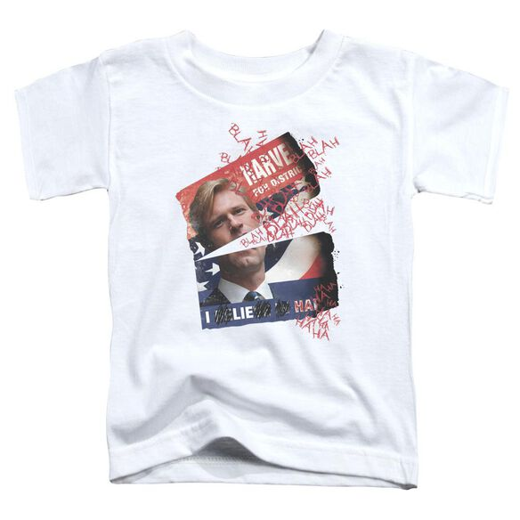 Dark Knight Defiled Campaign Poster Short Sleeve Toddler Tee White T-Shirt