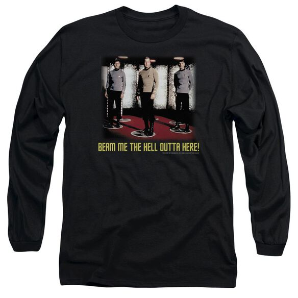 Star Trek Beam Me Out Long Sleeve Adult T-Shirt