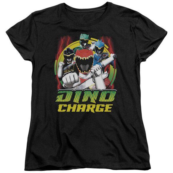 Power Rangers Dino Lightning Short Sleeve Womens Tee T-Shirt
