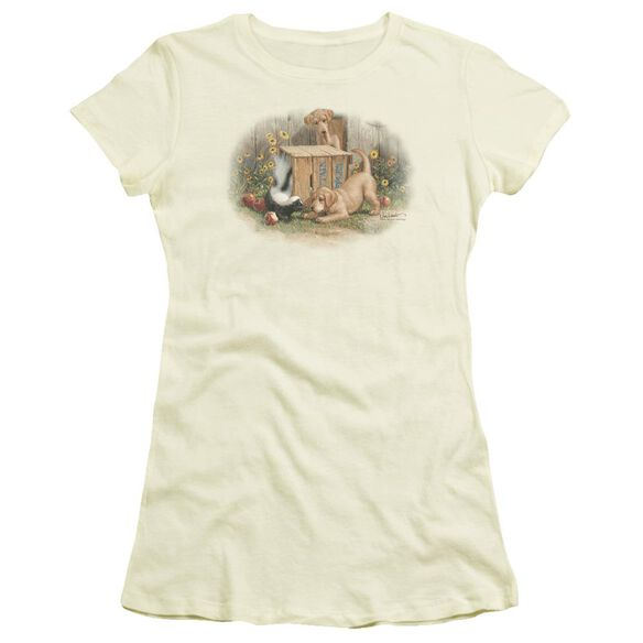 Wildlife Don't Talk Strangers Short Sleeve Junior Sheer T-Shirt