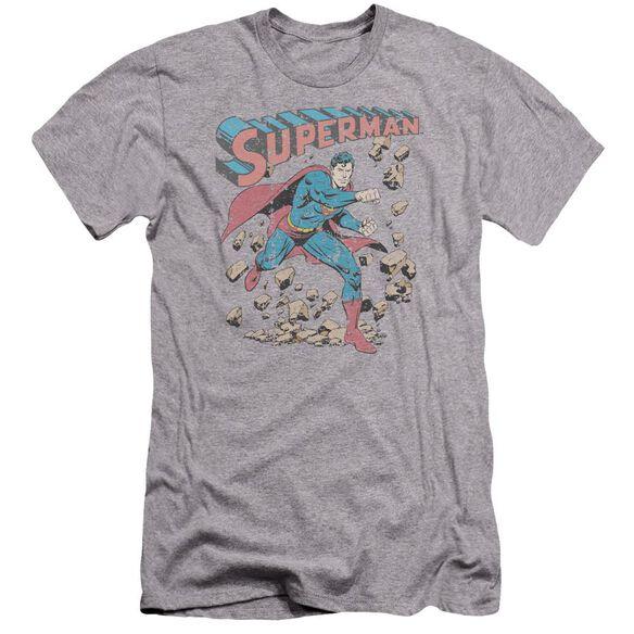 Superman Mad At Rocks Premuim Canvas Adult Slim Fit Athletic