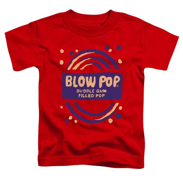 Tootsie Roll Blow Pop Rough Short Sleeve Toddler Tee Red Lg T-Shirt