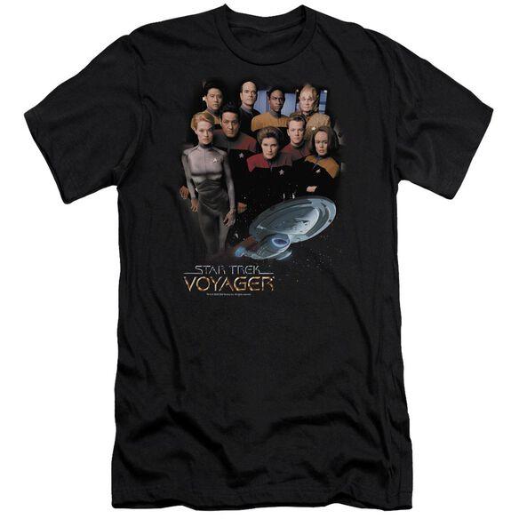 STAR TREK VOYAGER CREW - S/S ADULT 30/1 - BLACK T-Shirt