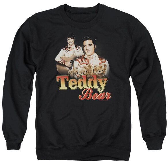 Elvis Presley Teddy Bear - Adult Crewneck Sweatshirt - Black