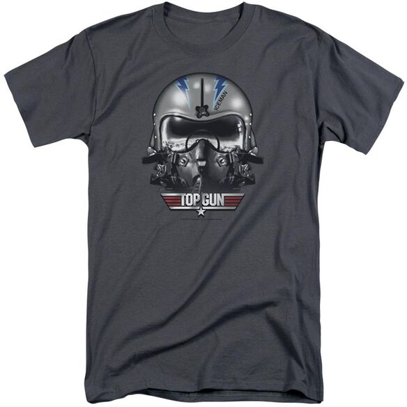 Top Gun Iceman Helmet Short Sleeve Adult Tall T-Shirt