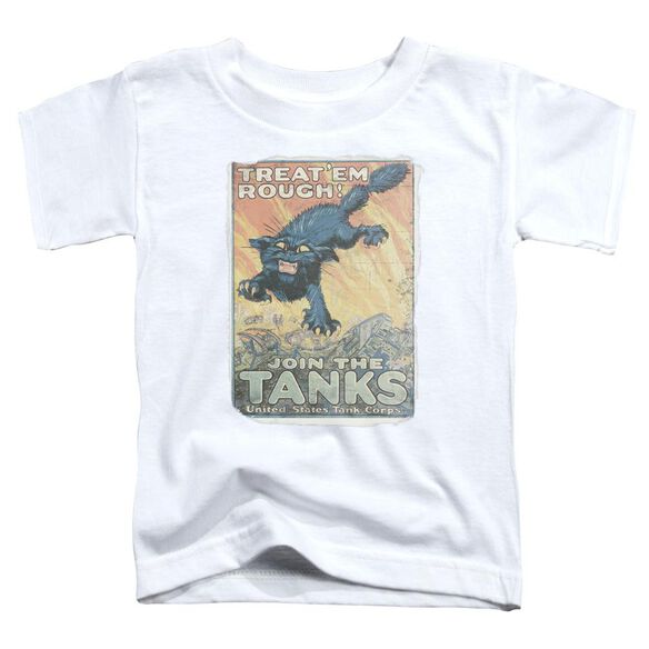 Army Treat Em Rough Short Sleeve Toddler Tee White T-Shirt