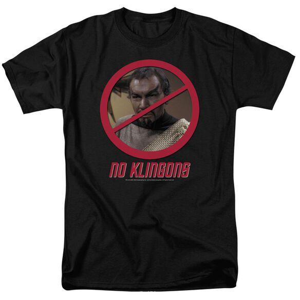 Star Trek No Klingons Short Sleeve Adult T-Shirt