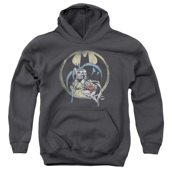 Dc Team-youth Pull-over Hoodie - Charcoal