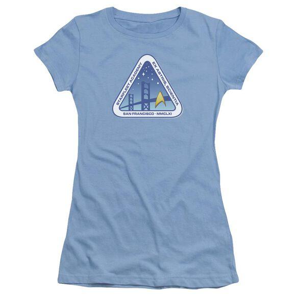 Star Trek Color Logo Short Sleeve Junior Sheer Carolina T-Shirt