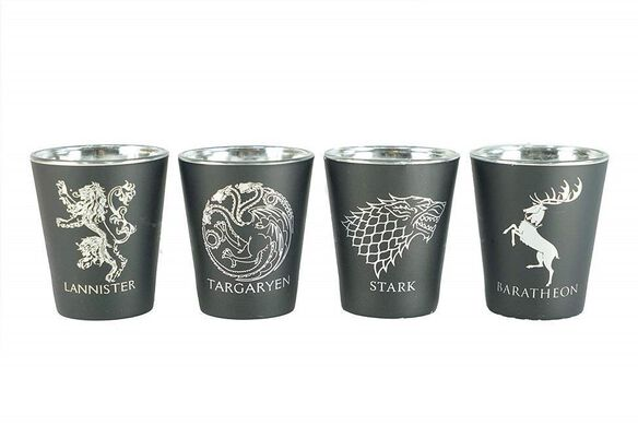 Game of Thrones House Sigil Shot Glass Set [Set of 4]