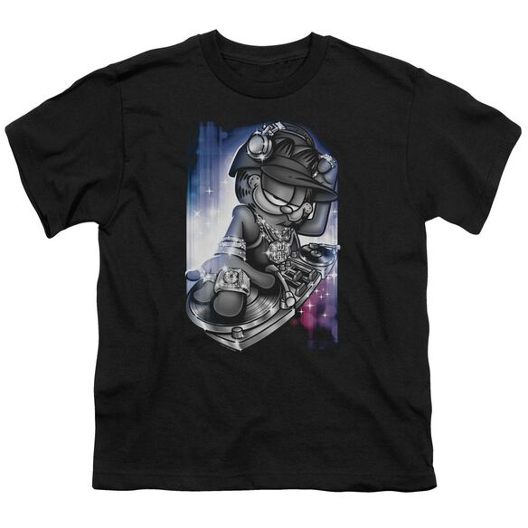 GARFIELD DJ LAZY - S/S YOUTH 18/1 - BLACK T-Shirt