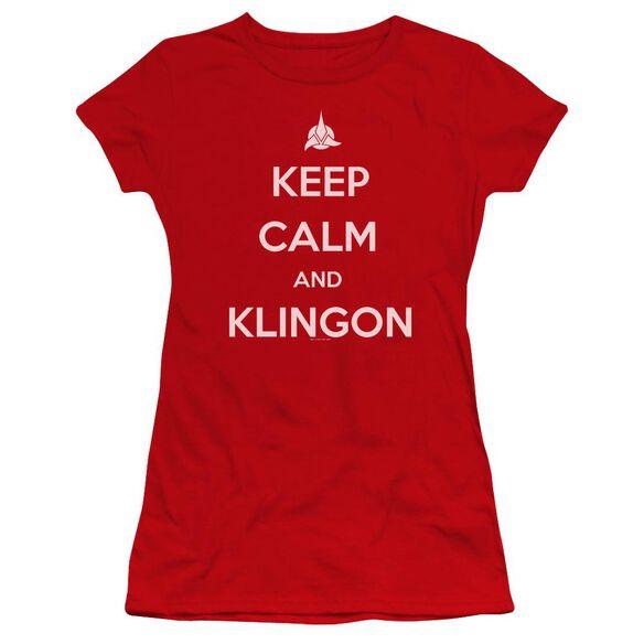 Star Trek Calm Klingon Premium Bella Junior Sheer Jersey