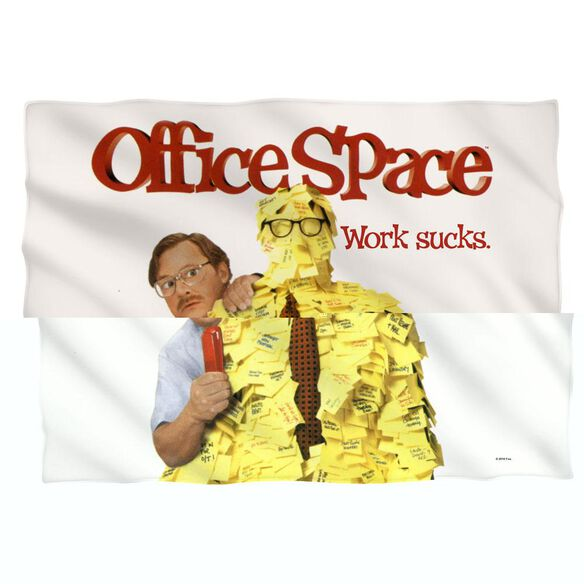 Office Space Work Sucks (Front Back Print) Pillow Case