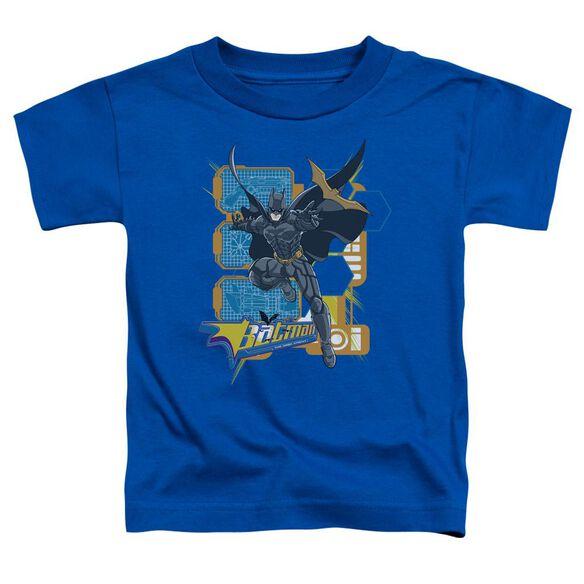 Dark Knight Batarang Tech Short Sleeve Toddler Tee Royal Blue T-Shirt