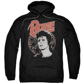 David Bowie Space Oddity Adult Pull Over Hoodie Black
