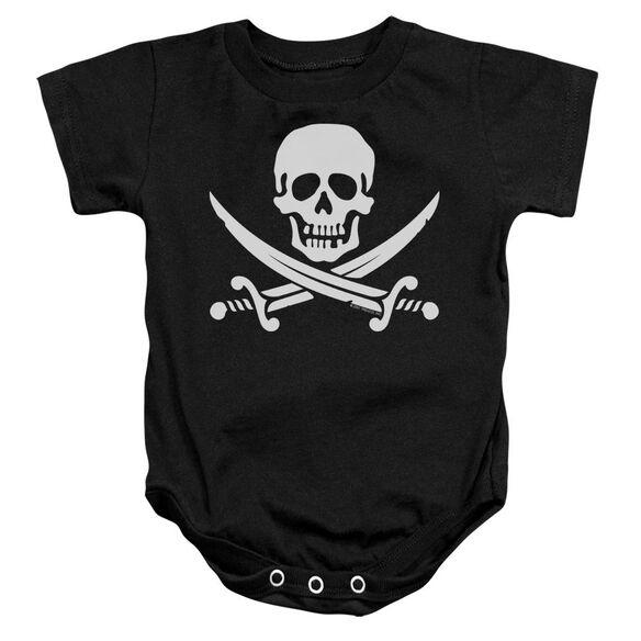 Jolly Roger Infant Snapsuit Black Sm
