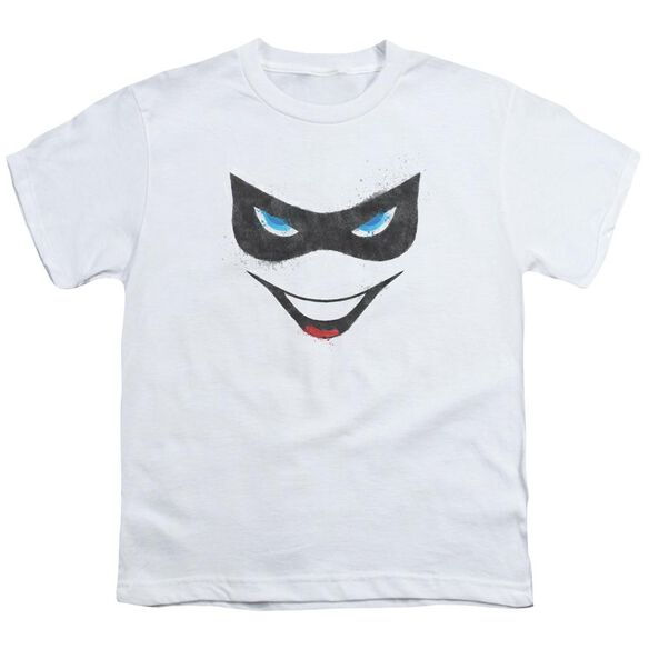 BATMAN HARLEY FACE - S/S YOUTH 18/1 - WHITE T-Shirt