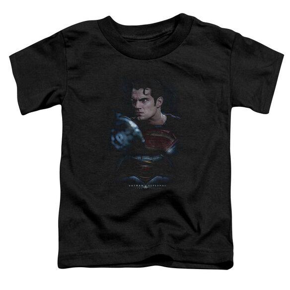Batman V Superman Super Angry Short Sleeve Toddler Tee Black T-Shirt