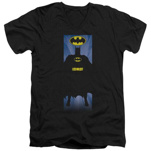 Batman Batman Block Short Sleeve Adult V Neck T-Shirt