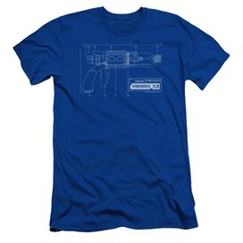WAREHOUSE 13 TESLA GUN - S/S ADULT 30/1 - ROYAL BLUE T-Shirt