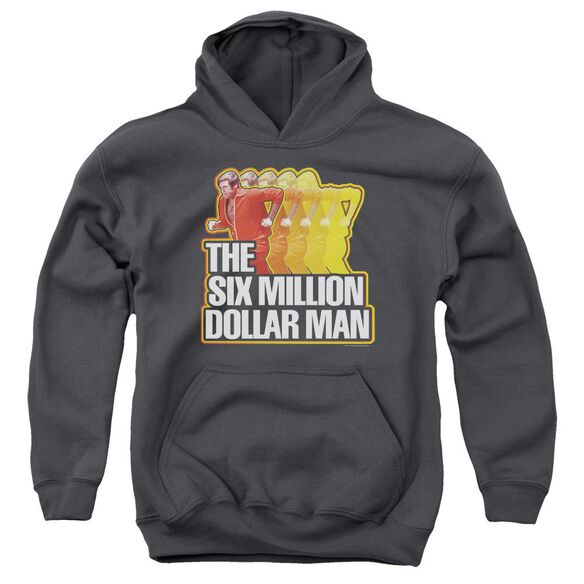 Six Million Dollar Man Run Fast Youth Pull Over Hoodie