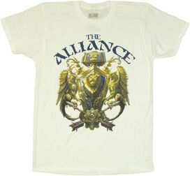 World of Warcraft Alliance 3D Crest T-Shirt Sheer