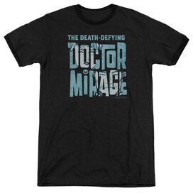 Doctor Mirage Character Logo Adult Heather Ringer