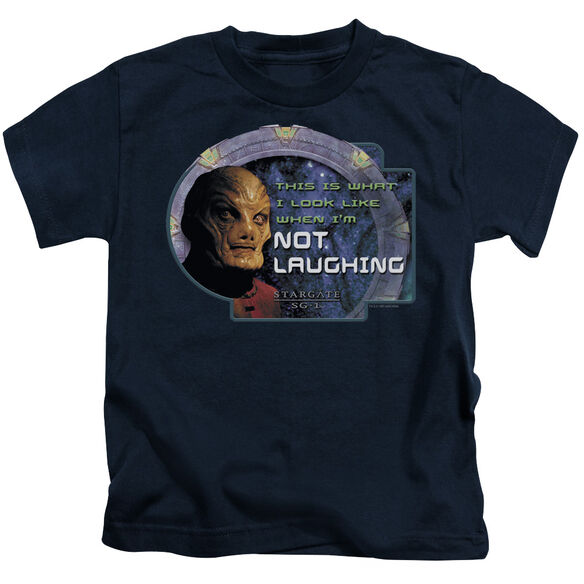 SG1 NOT LAUGHING - S/S JUVENILE 18/1 - NAVY - T-Shirt