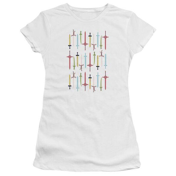 Adventure Time Swords Hbo Short Sleeve Junior Sheer T-Shirt