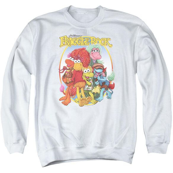 Fraggle Rock Group Hug Adult Crewneck Sweatshirt