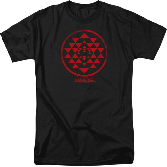 BSG RED SQUADRON PATCH - S/S ADULT 18/1 - BLACK T-Shirt