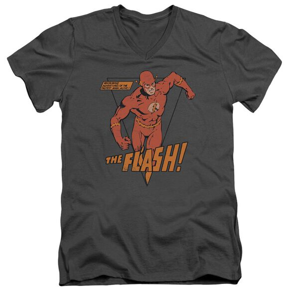 Dc Whirlwind Short Sleeve Adult V Neck T-Shirt