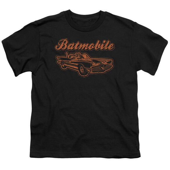Batman Batmobile Short Sleeve Youth T-Shirt