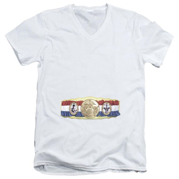 Rocky Championship Belt(Bottom Front) Short Sleeve Adult V Neck T-Shirt