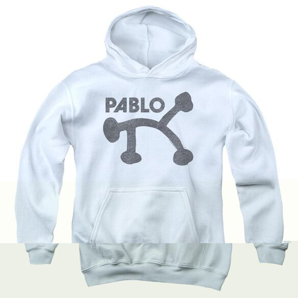 Pablo Retro Pablo - Youth Pull - Over Hoodie - White