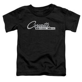 Chevrolet Chrome Stingray Logo Short Sleeve Toddler Tee Black T-Shirt
