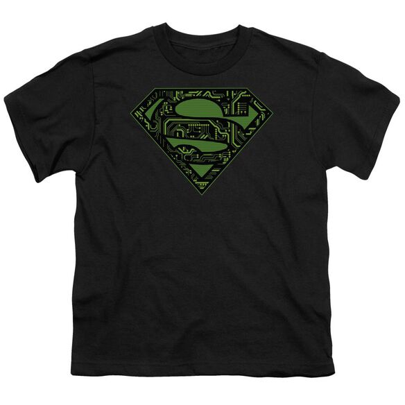Superman Circuits Shield Short Sleeve Youth T-Shirt