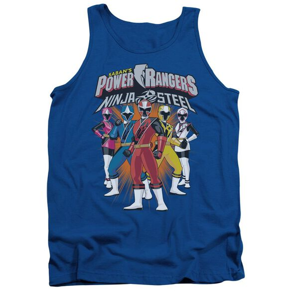 Power Rangers Team Lineup Adult Tank Royal