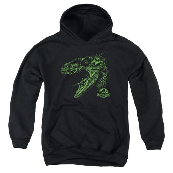 Jurassic Park Raptor Mount Youth Pull Over Hoodie