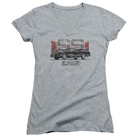 Chevrolet El Camino Ss Mountains Junior V Neck Athletic T-Shirt
