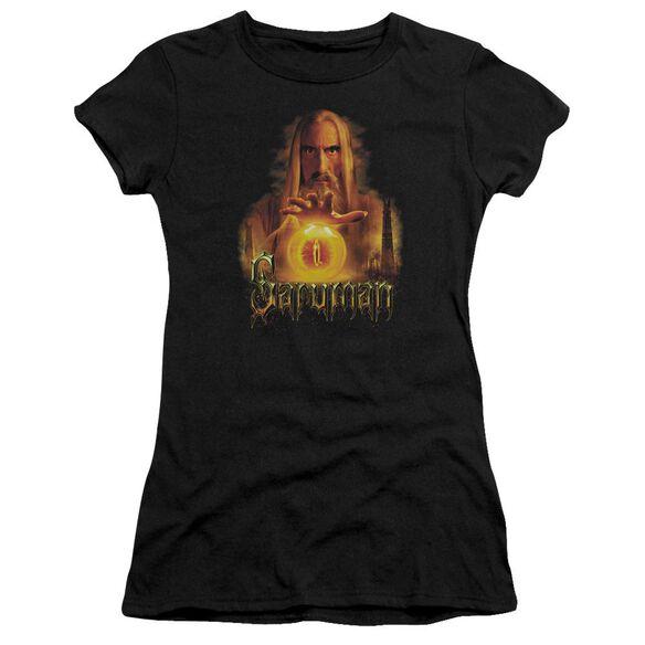 Lor Saruman Short Sleeve Junior Sheer T-Shirt