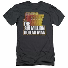 SIX MILLION DOLLAR MAN RUN FAST - S/S ADULT 30/1 - CHARCOAL T-Shirt